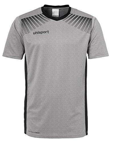 uhlsport Herren Goal Trikot, Dark Grey Melange/Schwarz, L