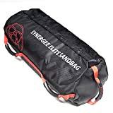 Synergee Elite Adjustable Fitness Sandbag with (4) Filler Bags 25-100lbs Heavy Duty Weight Bag - Red