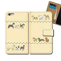 Xperia 10 III SOG04 ケース 手帳型 動物 手帳ケース スマホケース カバー 犬 いぬ トイプードル ポメラニアン E0292040117901