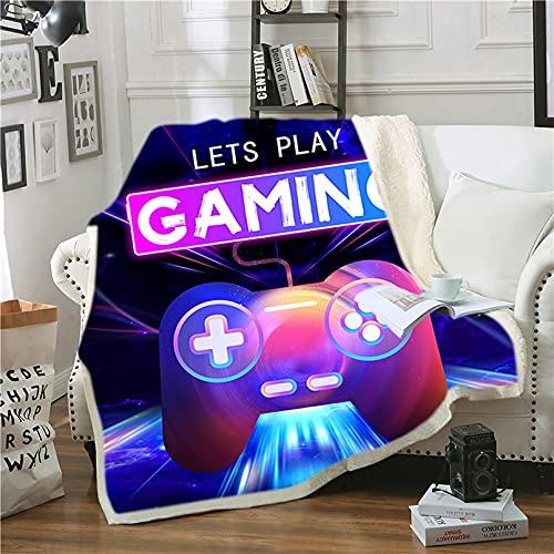 LXTOPN - Manta de forro polar 3D con diseño de Gamepad de microfibra, manta para niños (13,150 x 200 cm)
