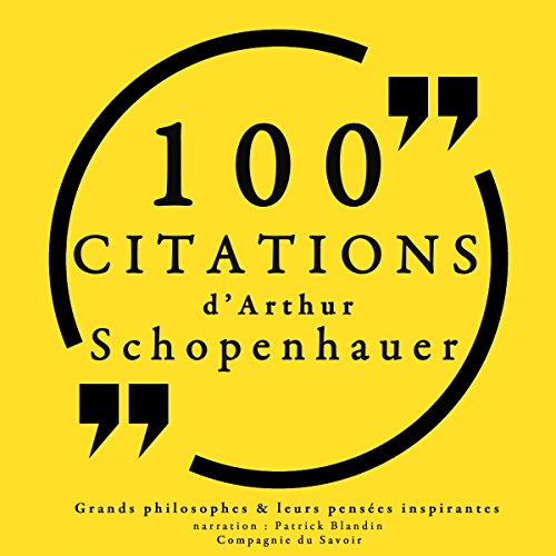 Couverture de 100 citations d'Arthur Schopenhauer