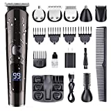 PURKOO Beard Trimmer for Men Hair Clippers Professional Cordless Mustache Trimmer Hair Trimmer Hair Cutting Kit 11 in 1 Grooming Kit for Nose Ear Facial Haircut Machine Waterproof USB Rechargeable