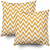 Juego de 2 fundas de almohada de 45,7 x 45,7 cm, sin costuras, patrón de rayas onduladas con fondo blanco, fundas de almohada decorativas cuadradas para sofá o dormitorio
