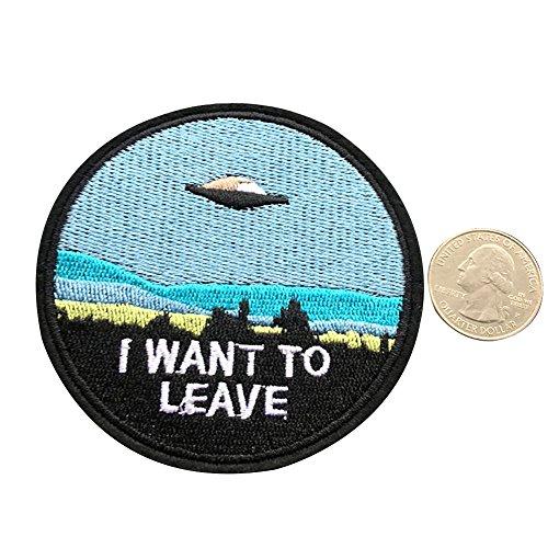 iTemer. 1 Pieza de Moda Estilo Creativo Bordado Apliques Bolsa de Ropa decoración de Tela Pasta Bordado Nave Espacial Extraterrestre 7cm*7cm