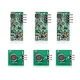 Neuftech 3X 433 MHz Transmetteur/Transmitter RF Module avec Kit Récepteur sans Fil pour Arduino Arm MCU Raspberry Pi
