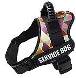 Wodondog Arnés para Chaleco de Perro Arnés de Perro Transpirable Ajustable para Perros pequeños, medianos y Grandes (M, Enrejado)