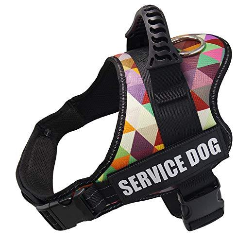 Wodondog Arnés Perro Reflectante Ajustable, Arnés Antitirones Suave Acolchado Cómodo Transpirable Arnés Chaleco para Perros Pequeños, Medianos y Grandes