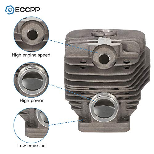 ECCPP 56mm Cylinder Head Piston Kit fit for Stihl 066 MS660 066 Chainsaw Parts Replaces 1122 020 1211 Piston Pin Rings Circlip Chainsaw Parts New