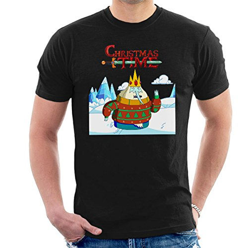 Adventure Christmas Time Ice King Ice World Cartoon Network Men's T-shirt