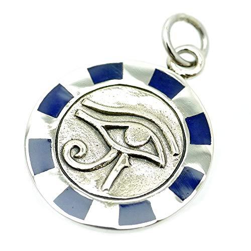 [シルバーワン] シルバー925 ホルスの目 ペンダント トップ メンズ hi 右目 青 エジプト神話