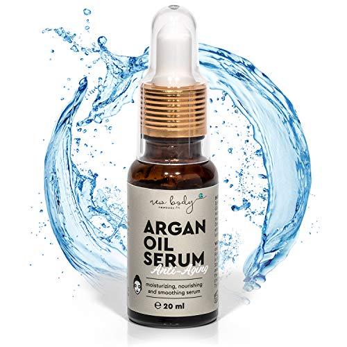 new body® Kaltgepresstes Arganöl Serum - 20 ml hochdosiertes Argan Öl - Naturkosmetik spendet Feuchtigkeit für Gesicht und Körper
