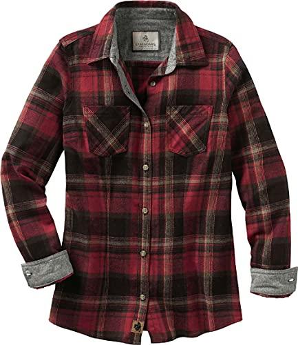 Legendary Whitetails Women's Cottage Escape Flannel Shirt, Forest Plaid, Medium
