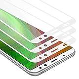 Cadorabo 3X Vollbild Panzerglasfolie für Huawei Mate 10 LITE - Schutzfolie in TRANSPARENT mit Weiss - 3er Pack Gehärtet (Tempered) Bildschirmschutz Glas in 9H Festigkeit mit 3D Touch