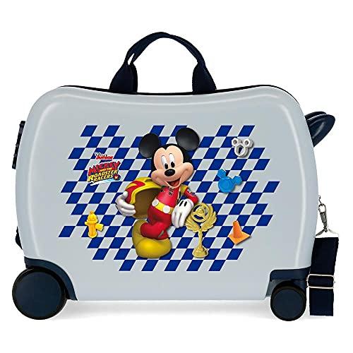 Disney Mickey Good Mood Maleta Infantil Multicolor 50x38x20 cms Rígida ABS Cierre combinación 34L...