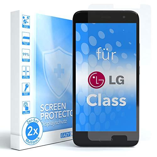 EAZY CASE 2X Panzerglas Bildschirmschutz 9H Festigkeit für LG Class, nur 0,3 mm dick I Schutzglas aus gehärteter 2,5D Panzerglasfolie, Bildschirmschutzglas, Transparent/Kristallklar