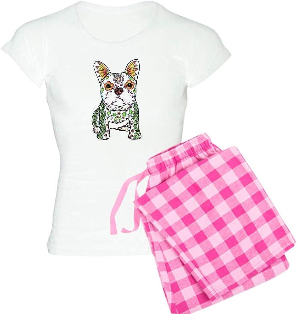 CafePress Sugar Skull Frenchie PJs Max 59% OFF Pajamas Max 68% OFF Women's