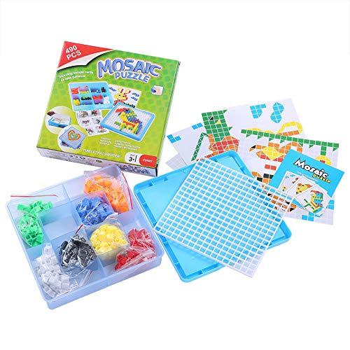 Tnfeeon 490pcs Educativos Tempranos Juego de Juguete Rompecabezas Juegos de Mesa Creativo DIY Colorido Plástico Bloques de Construcción Ladrillos Juguetes de Desarrollo Regalos