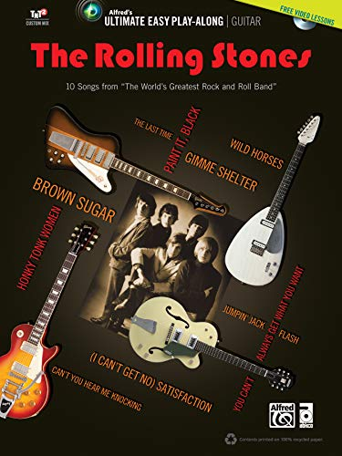 Ultimate easy guitar play-along The Rolling Stones + DVD --- Guitare - Rolling Stones --- Alfred Publishing