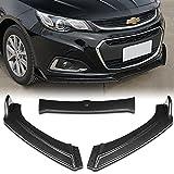 Stay Tuned Performance PU/514/PCF Carbon Fiber Print Front Bumper Body Kit Splitter Lip 3PCS Compaitble with 2013-2018 Chevy Malibu