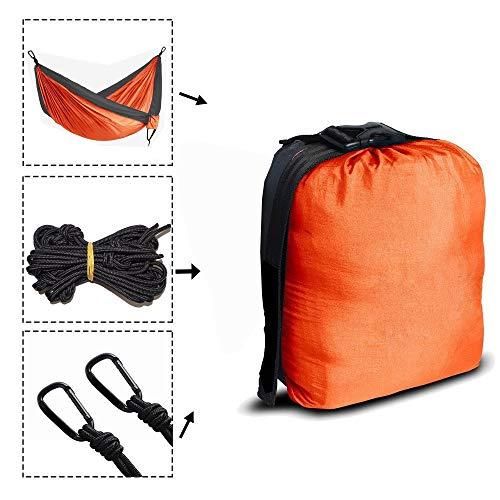WXQHYD Portable Nylon Parachute Hammock Camping Survival Garden Hunting Leisure Hamac Travel Double Person Hamak