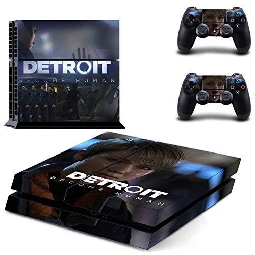 TSWEET Detroit Become Human PS4 Skin Sticker para PS4 Playstation 4 y 2 Skins de Controlador
