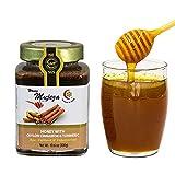 Mujeza Raw Wildflower Honey with Ceylon Cinnamon & Turmeric - Natural Liquid Honey - Gluten Free Honey - Non GMO - Unheated - Unfiltered - (SAVE $6 ON 4-PACK) Glass jar (300g / 10.6oz)