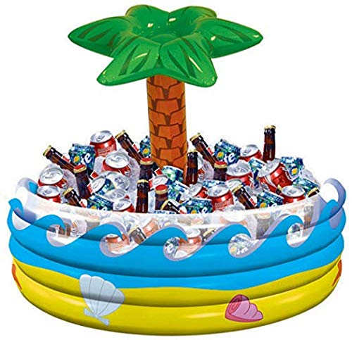 """Palm Tree Oasis Inflatable Party Cooler - 14"""" x 29.5"""" 