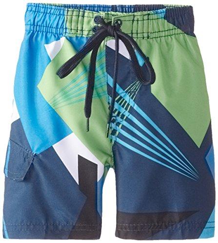 Kanu Surf Boys' Big Line Up Quick Dry UPF 50+ Beach Swim Trunk, Vertigo Navy, 14/16