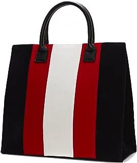 Lulu Dharma Velvet Racing Striped Bag, Striped Handbag, Tote Bag, Purse, Handbag, Shoulder Bag, Diaper Bag - MSRP 89
