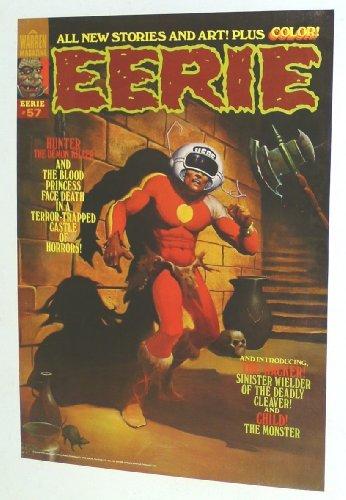Vintage 1974 Warren Publications EERIE Magazine # 57 Horror Poster: Hunter the Demon Killer
