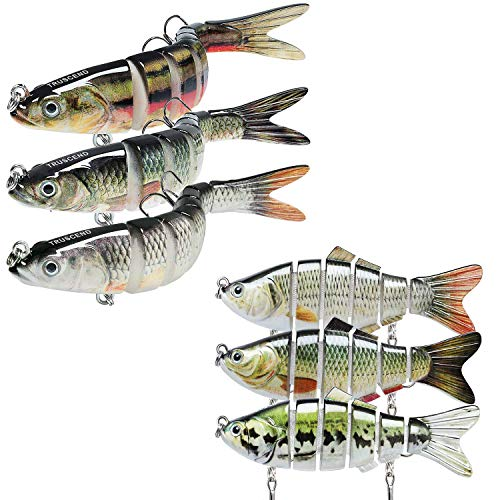 """TRUSCEND Fishing Lures for Bass Trout 2~4/"""" Segmented Multi Jointed Swimbaits Slo"""