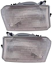 Headlight Assembly Compatible with 2000-2001 Ford Excursion/F-Series Super Duty 1999-2001 Halogen Composite Type Aero Design Passenger and Driver Side