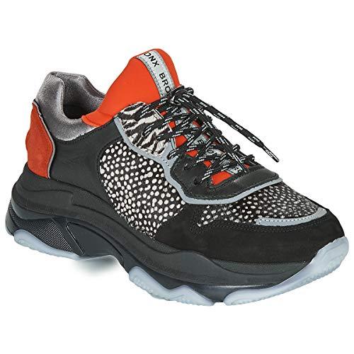 BRONX BAISLEY Sneakers femmes Zwart/Oranje Lage sneakers