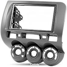 CARAV 11-213 Double Din Car Dash Installation Kit Radio Stereo Face Facia Fascia Panel Frame DVD Dash Stereo Install Kit for HONDA Fit Jazz City Manual Air Right Wheelwith 17398mm 178102mm