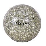 Kosma - Pelota de hockey con purpurina, color plateado | Pelotas de entrenamiento de PVC para deportes al aire libre