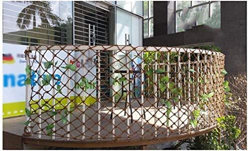 WSJ braunes Seilnetz, Kindersicherheitsnetz, Treppenschutznetz, Gartendekoration, Trennnetz, Zaunnetz, Hängematte, Schaukelnetz, Gartennetz (Größe: 4 x 6 m), 1*3m
