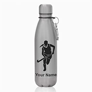 Water Bottle, Field Hockey Woman, Personalized Engraving Included