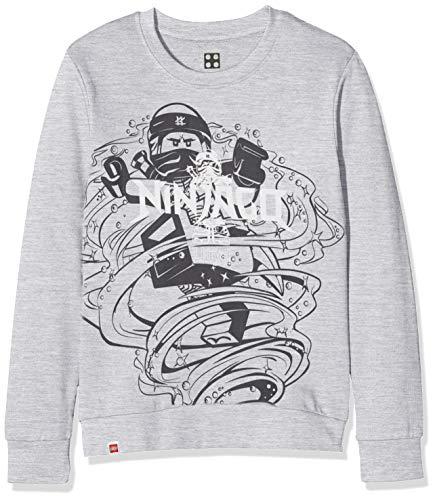 LEGO Jungen cm Ninjago Sweatshirt, Grau (Grey Melange 912), (Herstellergröße: 140)