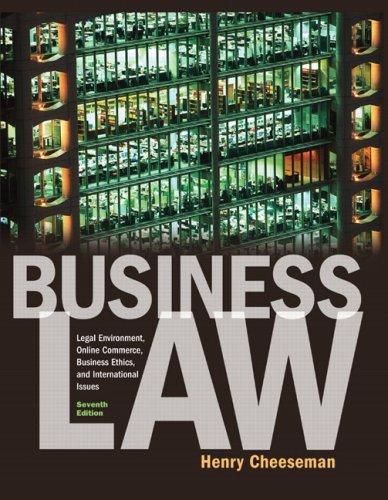 Business Law: Legal Environment, Online Commerce,...