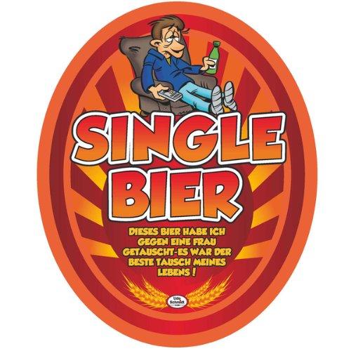 Aufkleber SINGEL BIER Etikett Bierflasche selbstklebend Geschenk