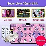 XLL Double Dance Mat,Non-Slip Dance Pad , PC USB Dancing Mat Compatible for PC AV Video Game ( Size : 30mm )