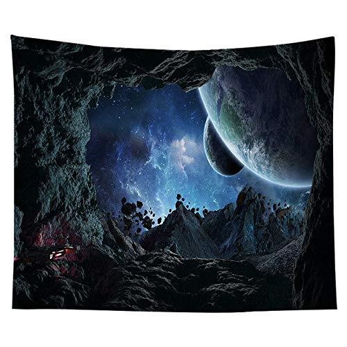 Tapiz nórdico tapiz espacio planetario paisaje dormitorio decoración sala de estar fondo tapiz de tela a10 150x200cm