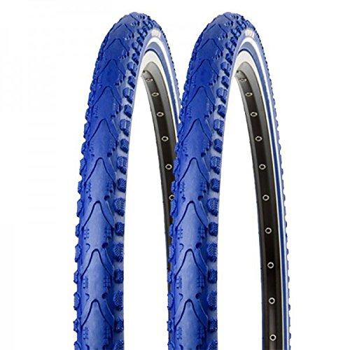 2x Kenda Fahrrad Semislick Reifen Khan K-935 40-622 28x1.5 Draht blau reflex