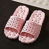 WUHUI Zapatillas Antideslizantes para Mujeres Y Hombres, para Hombre Zapatillas de Estar por Casa de, Desodorante Antideslizante de Masaje de Fondo Grueso Antideslizante para Mujeres, Pink_36 / 37