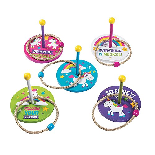 Unicorn Ring Toss Game - wooden Party game
