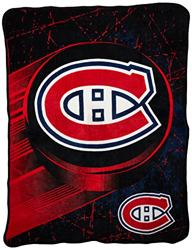 NHL Montreal Canadiens 'Ice Dash' Micro Raschel Throw Blanket, 46' x 60'