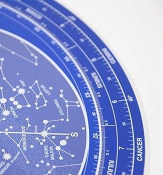 Planisphère Gros Luminescent - Carte brillante dans l'obscurité - - Calendrier d'apparition des constellations dans le ciel - Plastique résistant à l'eau et à l'usure