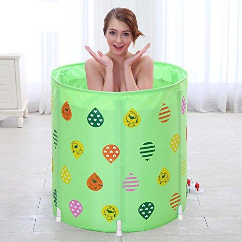 Baignoire gonflable gonflable pliable gonflable pliable pour bébé de piscine d'adultes d'adultes de baignoire d'enfants , green , 70cm