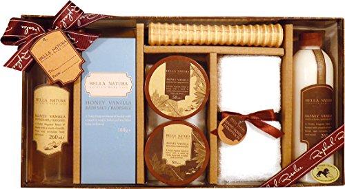 Bella Natura No. 081, Honig & Vanille, Beauty & Wellness Geschenkset (7-teilig) von Raphael Rosalee Cosmetics