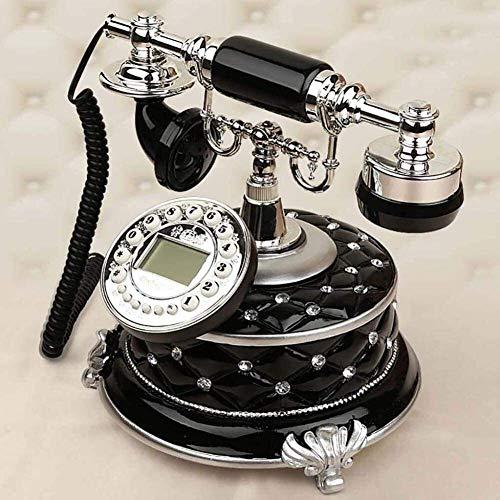 Teléfono Teléfono Inicio Teléfono Vintage Retro Vintage Estilo antiguo Decoración para el hogar Teléfono Teléfono Teléfono Escritorio Clásico Marcador de llamadas entrante Tono de anillo de campana tr